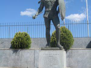 Sparte - statue de Leonidas